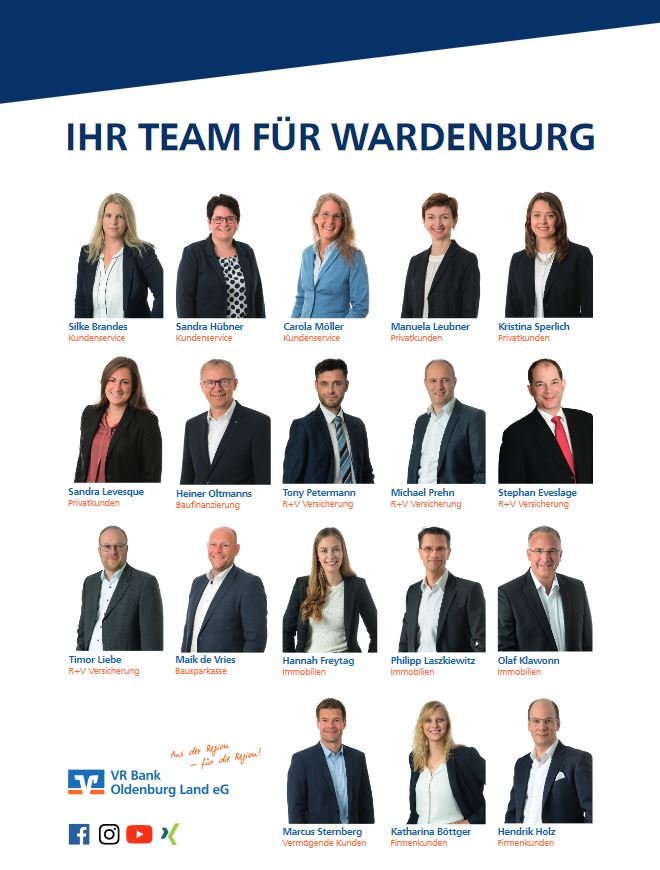 VR Bank Oldenburg Land eG - Team Wardenburg | https://www.vrbank-oldenburgland.de/kampagnen/vrbankol/wardenburg.html