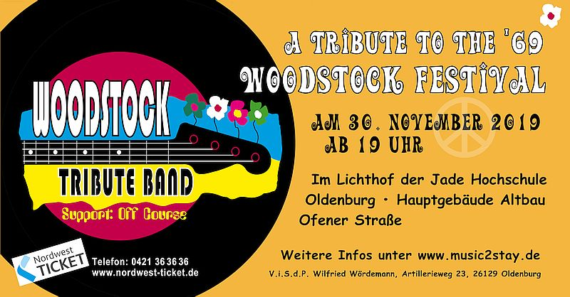 Banner Woodstock Tribute neu