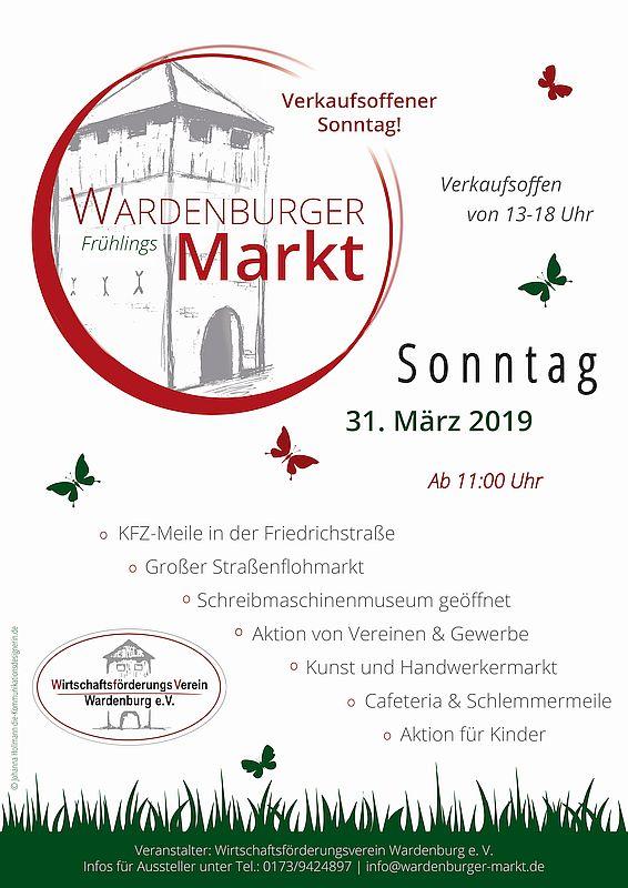 Wardenburger Frühlingsmarkt Plakat
